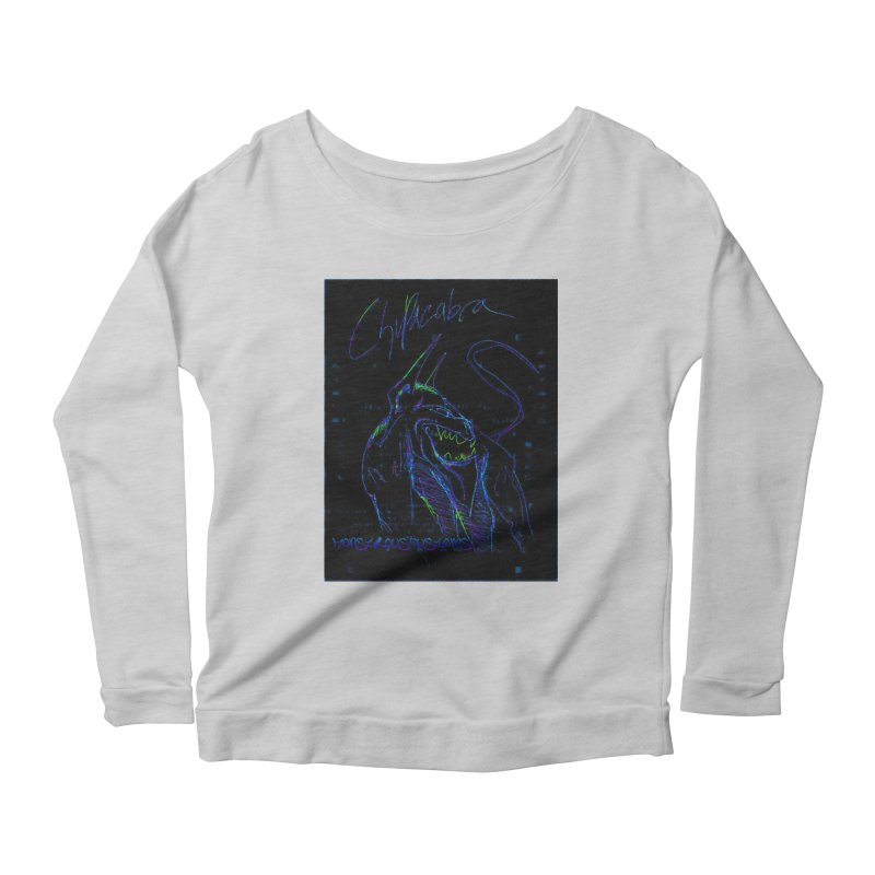 The Chupacabra2! Women's Scoop Neck Longsleeve T-Shirt by Monstrous Customs