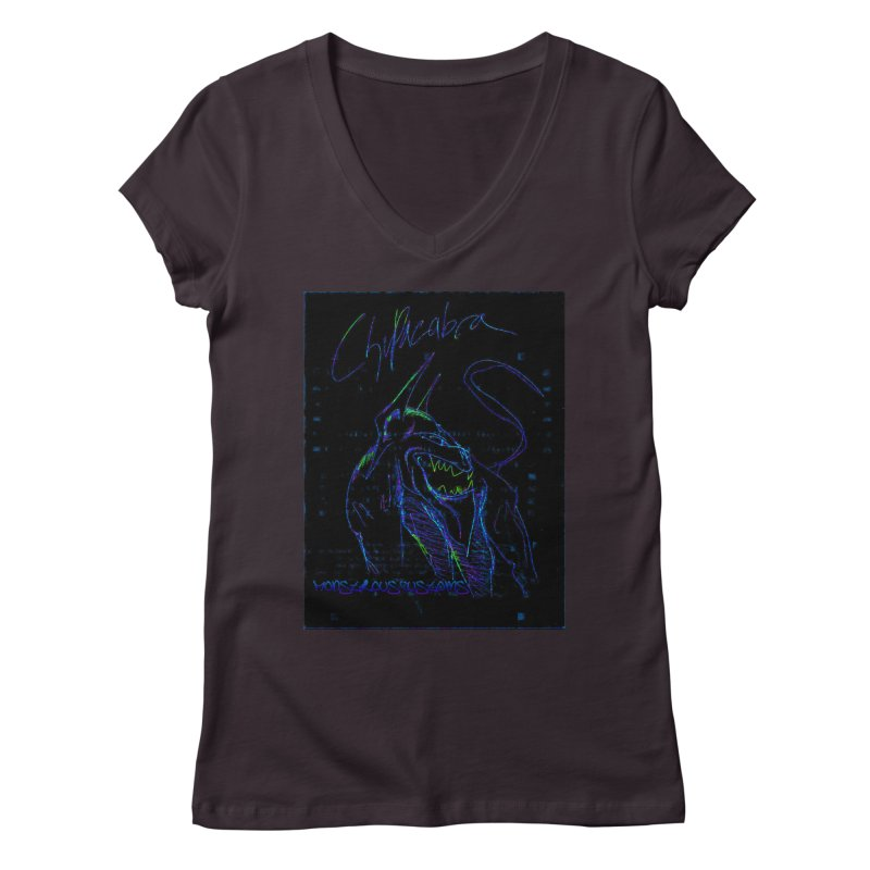 The Chupacabra2! Women's V-Neck by Monstrous Customs