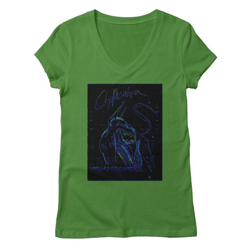 The Chupacabra2! Women's Regular V-Neck by Monstrous Customs