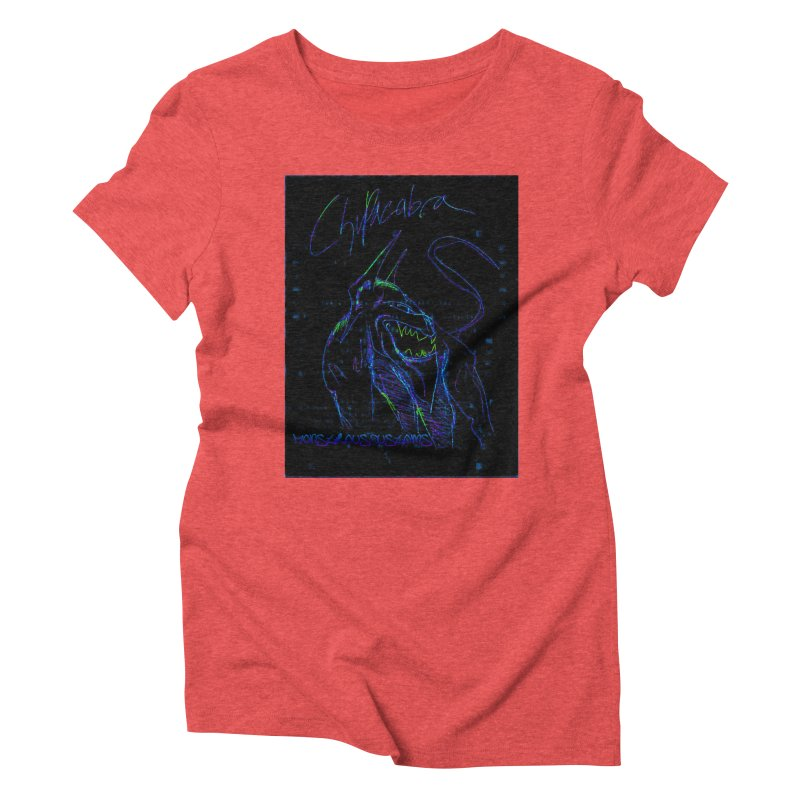 The Chupacabra2! Women's Triblend T-shirt by Monstrous Customs