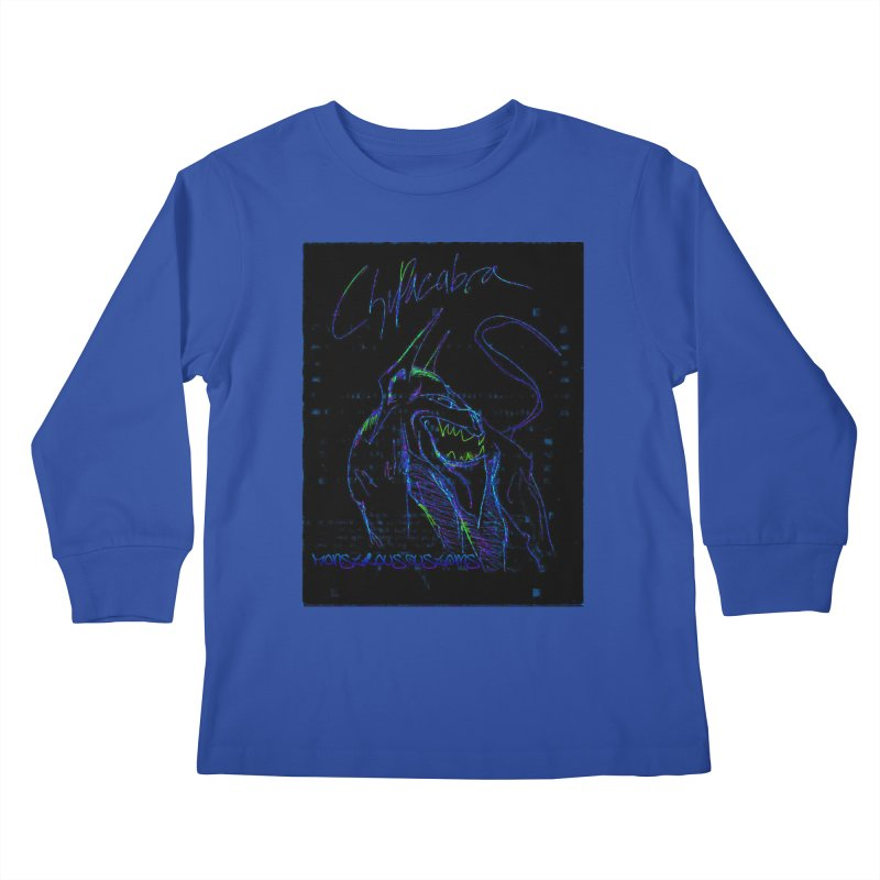 The Chupacabra2! Kids Longsleeve T-Shirt by Monstrous Customs