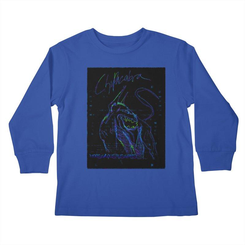 The Chupacabra2! Kids Longsleeve T-Shirt by Monstrous Customs