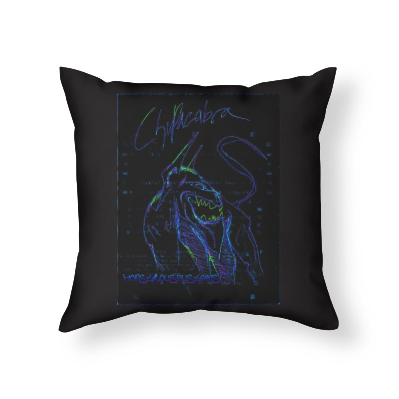 The Chupacabra2! Home Throw Pillow by Monstrous Customs