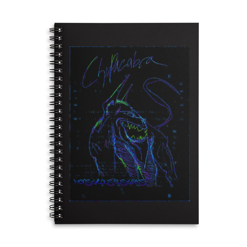The Chupacabra2! Accessories Lined Spiral Notebook by Monstrous Customs