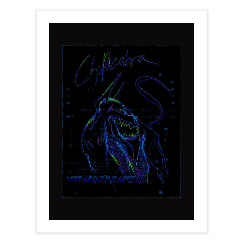 The Chupacabra2! Home Fine Art Print by Monstrous Customs