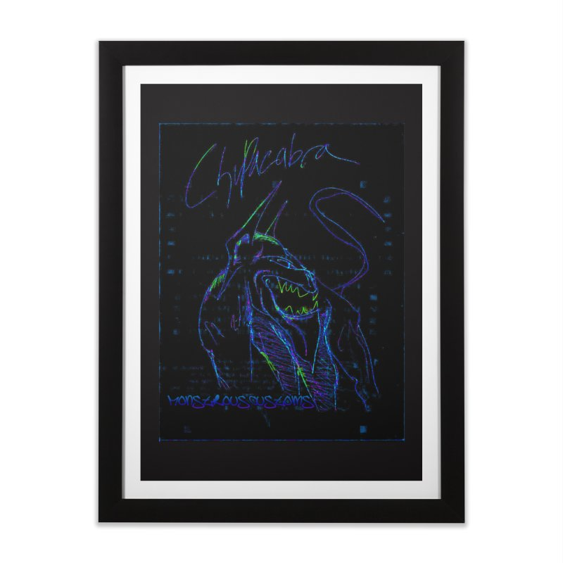 The Chupacabra2! Home Framed Fine Art Print by Monstrous Customs