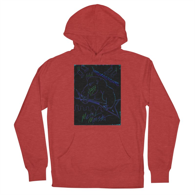 Metal Monster2 Men's French Terry Pullover Hoody by Monstrous Customs