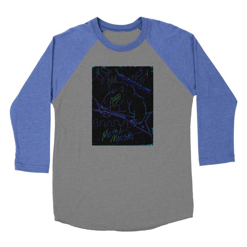 Metal Monster2 Women's Baseball Triblend Longsleeve T-Shirt by Monstrous Customs
