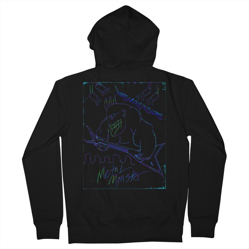 Metal Monster2 Women's French Terry Zip-Up Hoody by Monstrous Customs