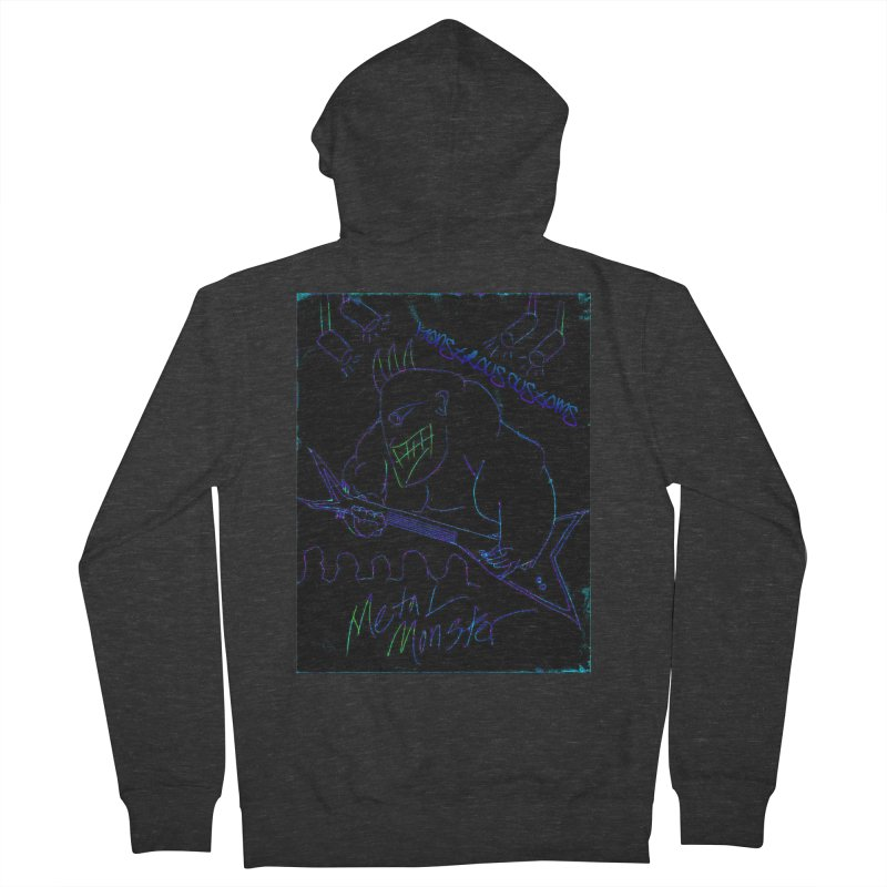 Metal Monster2 Men's French Terry Zip-Up Hoody by Monstrous Customs