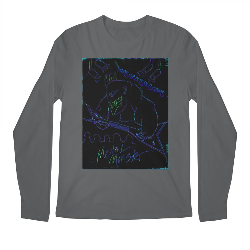 Metal Monster2 Men's Regular Longsleeve T-Shirt by Monstrous Customs
