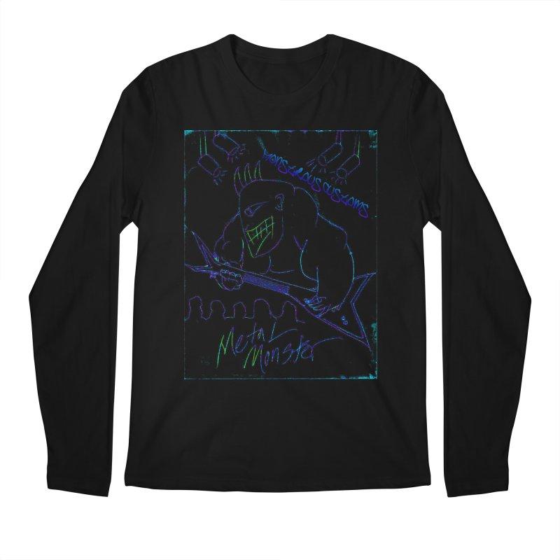 Metal Monster2 Men's Longsleeve T-Shirt by Monstrous Customs