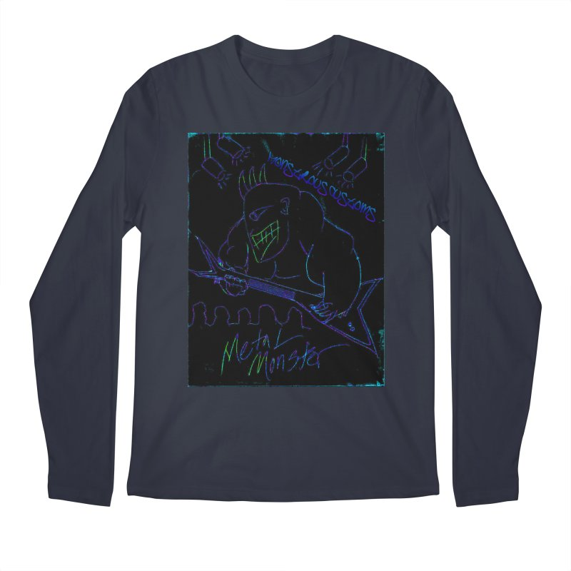 Metal Monster2 Men's Longsleeve T-Shirt by Monstrous Customs