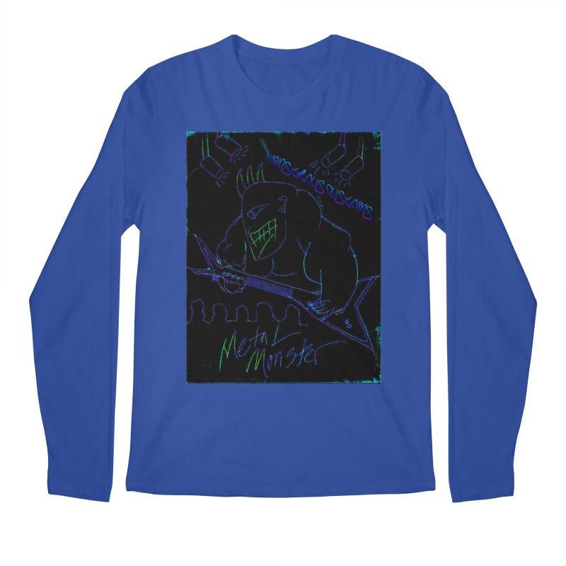 Metal Monster2 Men's Regular Longsleeve T-Shirt by Monstrous Customs