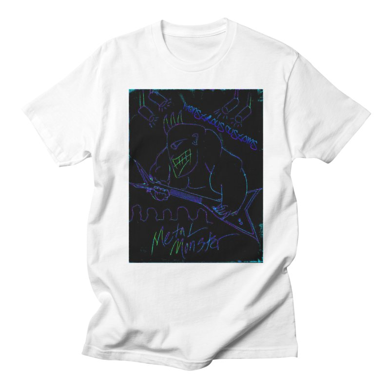 Metal Monster2 Men's Regular T-Shirt by Monstrous Customs