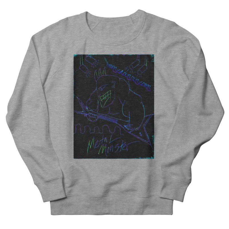 Metal Monster2 Women's French Terry Sweatshirt by Monstrous Customs