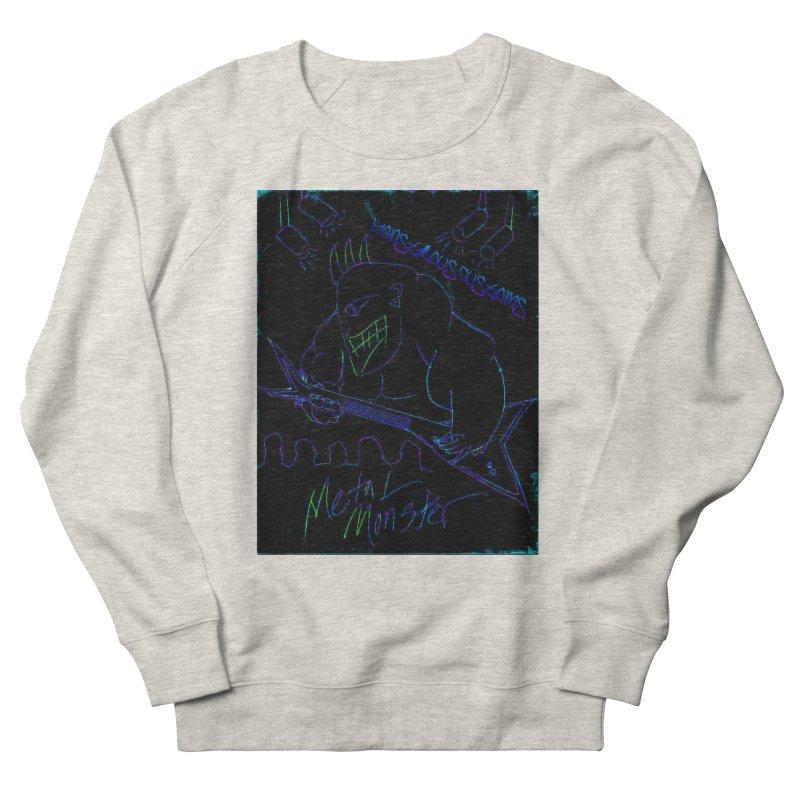Metal Monster2 Men's French Terry Sweatshirt by Monstrous Customs