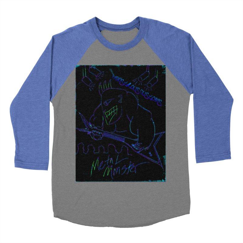 Metal Monster2 Women's Baseball Triblend T-Shirt by Monstrous Customs