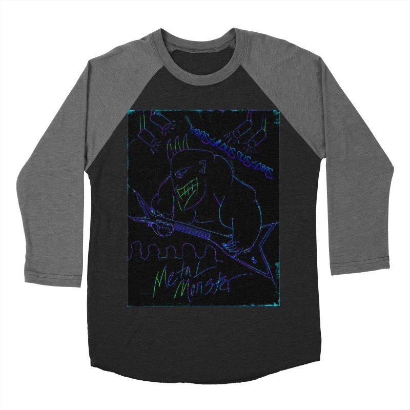 Metal Monster2 Men's Baseball Triblend T-Shirt by Monstrous Customs