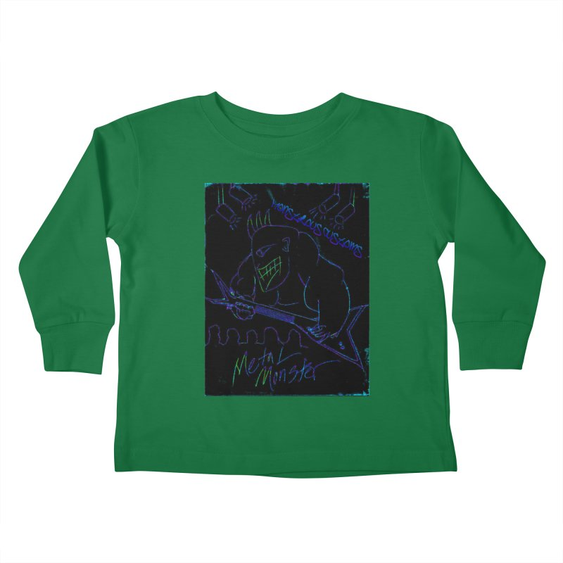 Metal Monster2 Kids Toddler Longsleeve T-Shirt by Monstrous Customs