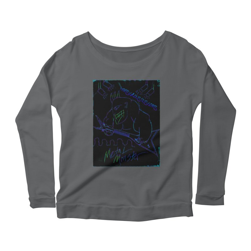 Metal Monster2 Women's Longsleeve Scoopneck  by Monstrous Customs