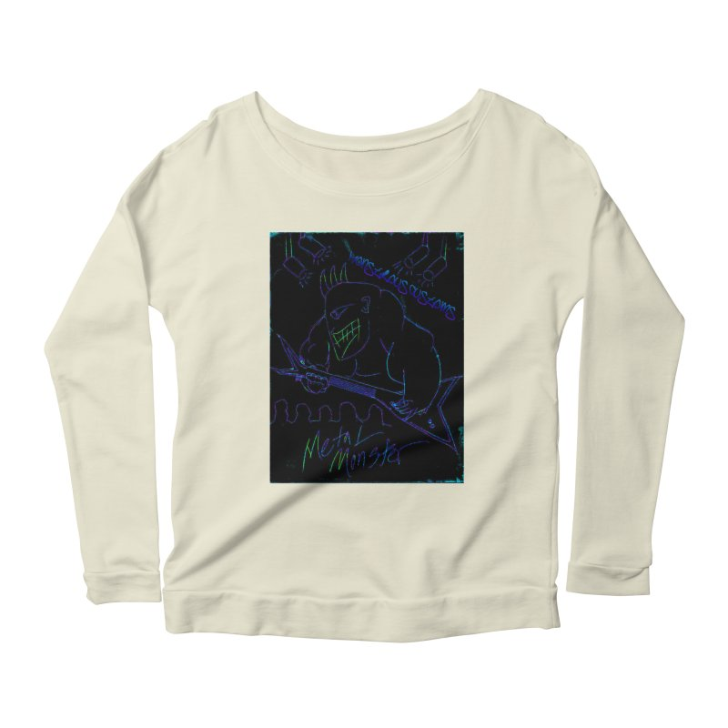 Metal Monster2 Women's Scoop Neck Longsleeve T-Shirt by Monstrous Customs