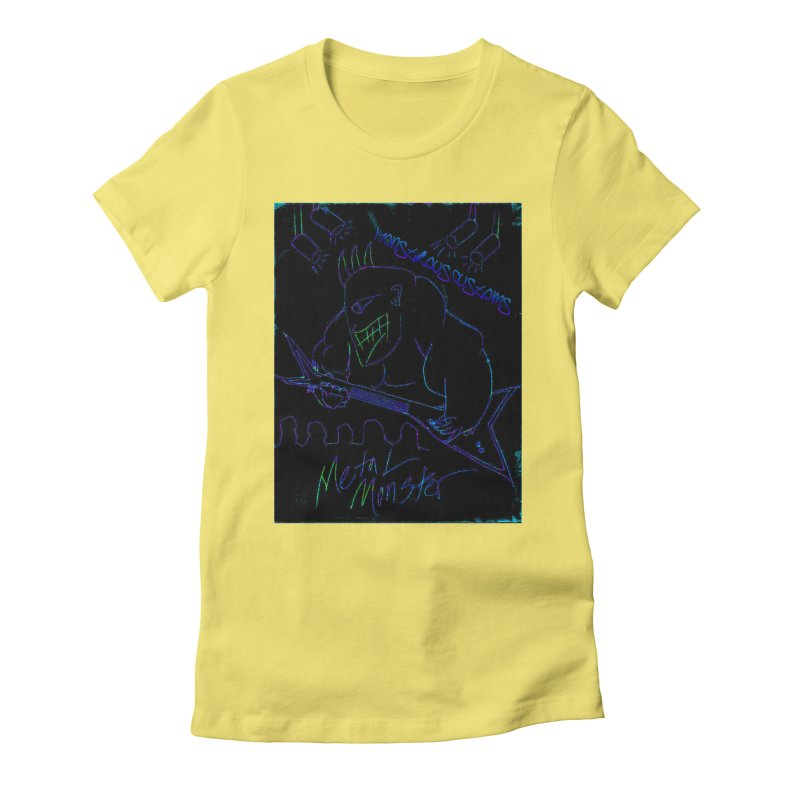 Metal Monster2 Women's Fitted T-Shirt by Monstrous Customs