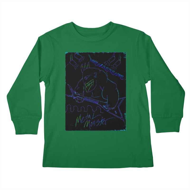 Metal Monster2 Kids Longsleeve T-Shirt by Monstrous Customs