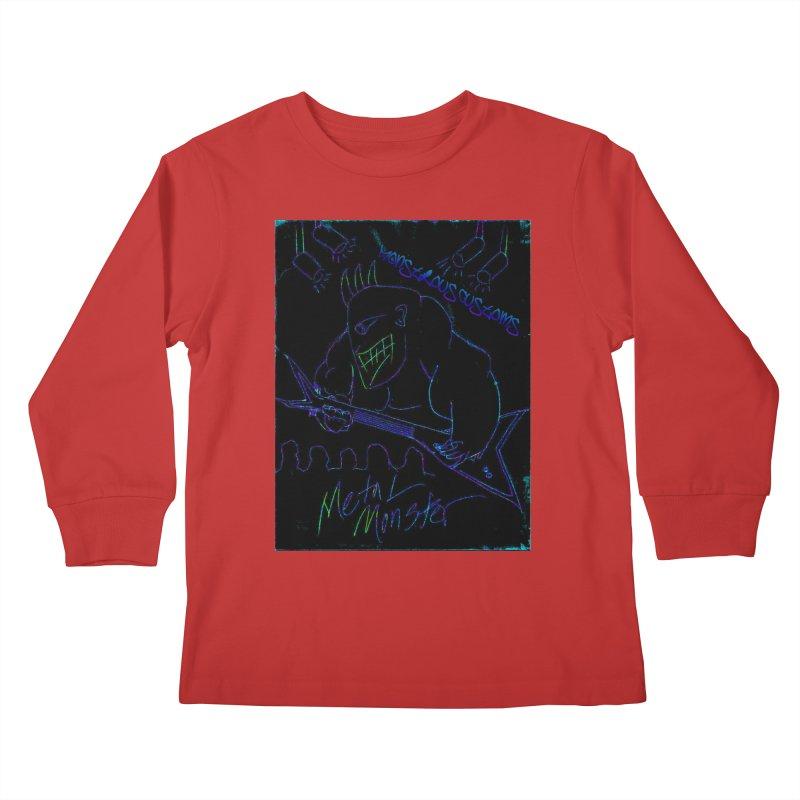 Metal Monster2 Kids Longsleeve T-Shirt by Monstrous Customs