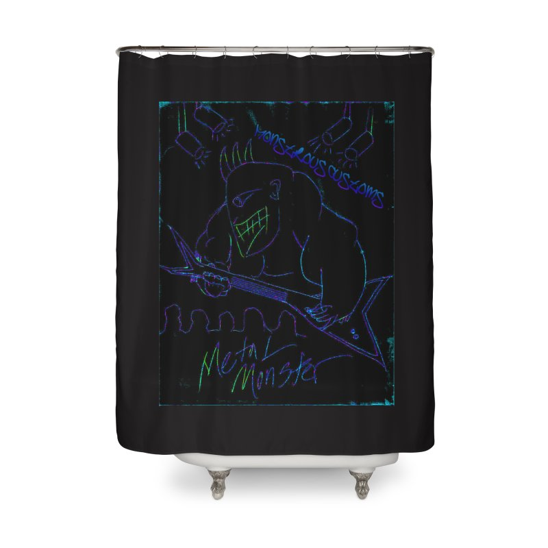 Metal Monster2 Home Shower Curtain by Monstrous Customs