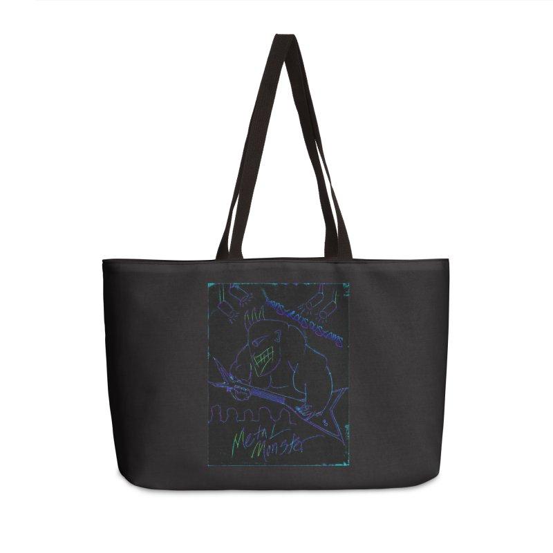 Metal Monster2 Accessories Weekender Bag Bag by Monstrous Customs