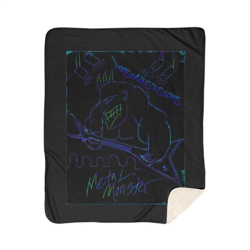 Metal Monster2 Home Sherpa Blanket Blanket by Monstrous Customs