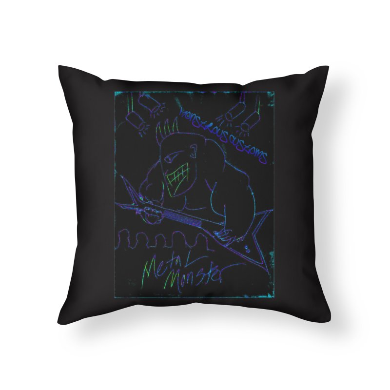 Metal Monster2 Home Throw Pillow by Monstrous Customs