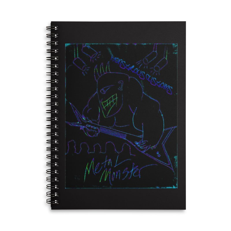 Metal Monster2 Accessories Lined Spiral Notebook by Monstrous Customs