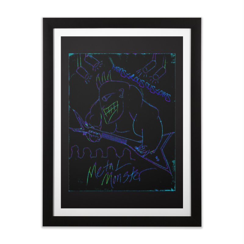 Metal Monster2 Home Framed Fine Art Print by Monstrous Customs
