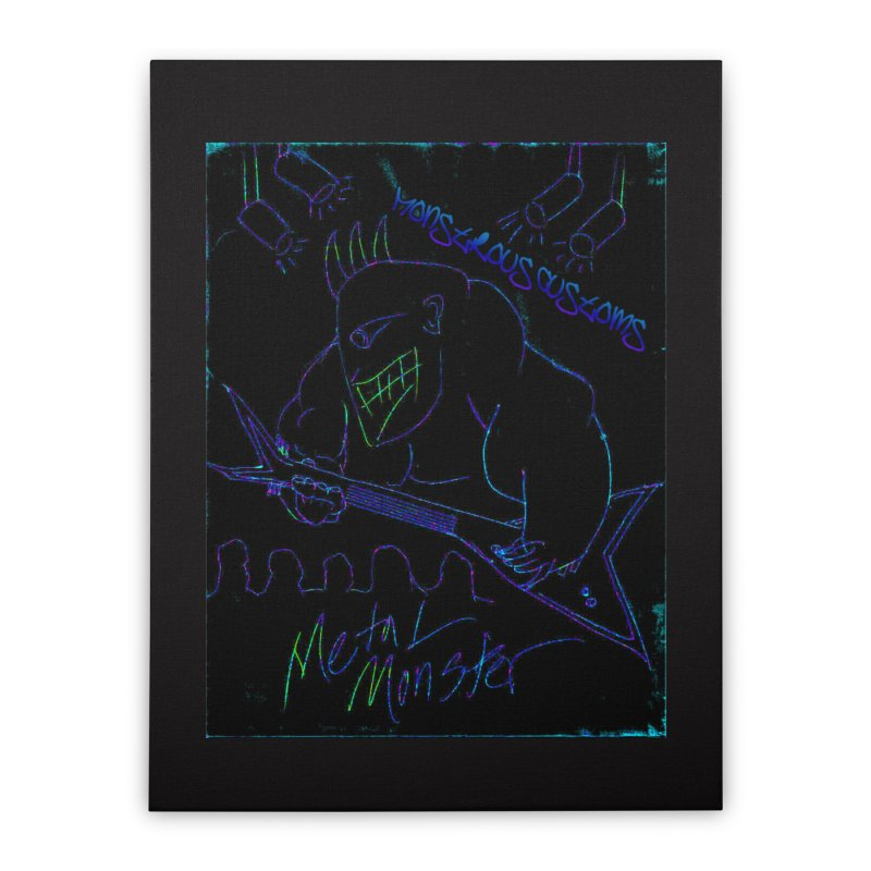 Metal Monster2 Home Stretched Canvas by Monstrous Customs