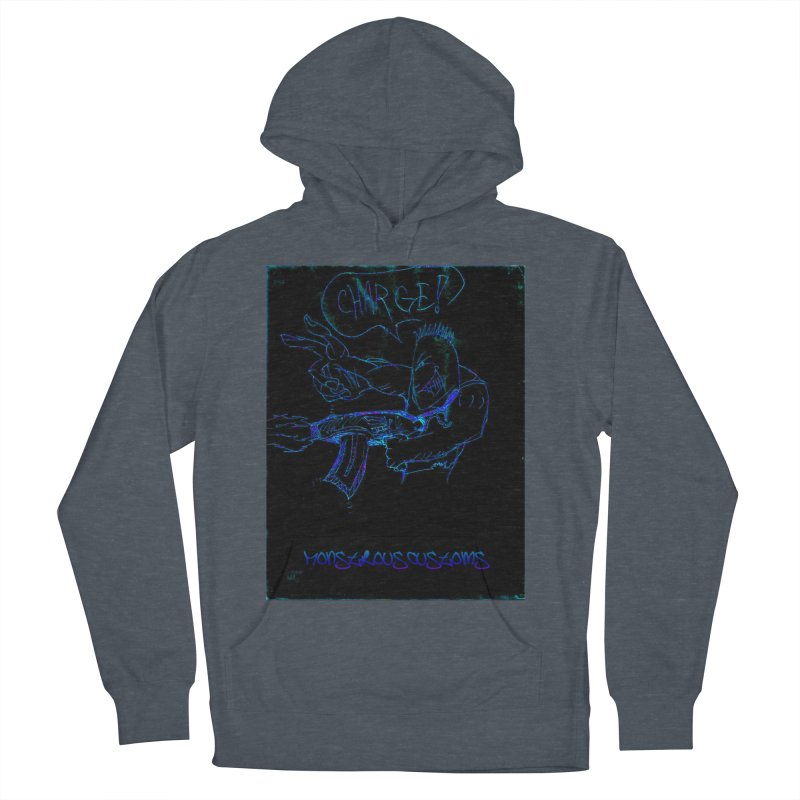 Alien Foot Soldier2 Men's French Terry Pullover Hoody by Monstrous Customs