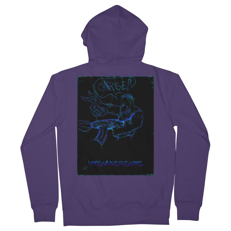 Alien Foot Soldier2 Women's Zip-Up Hoody by Monstrous Customs