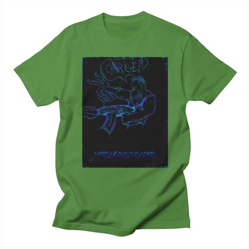 Alien Foot Soldier2 Men's Regular T-Shirt by Monstrous Customs
