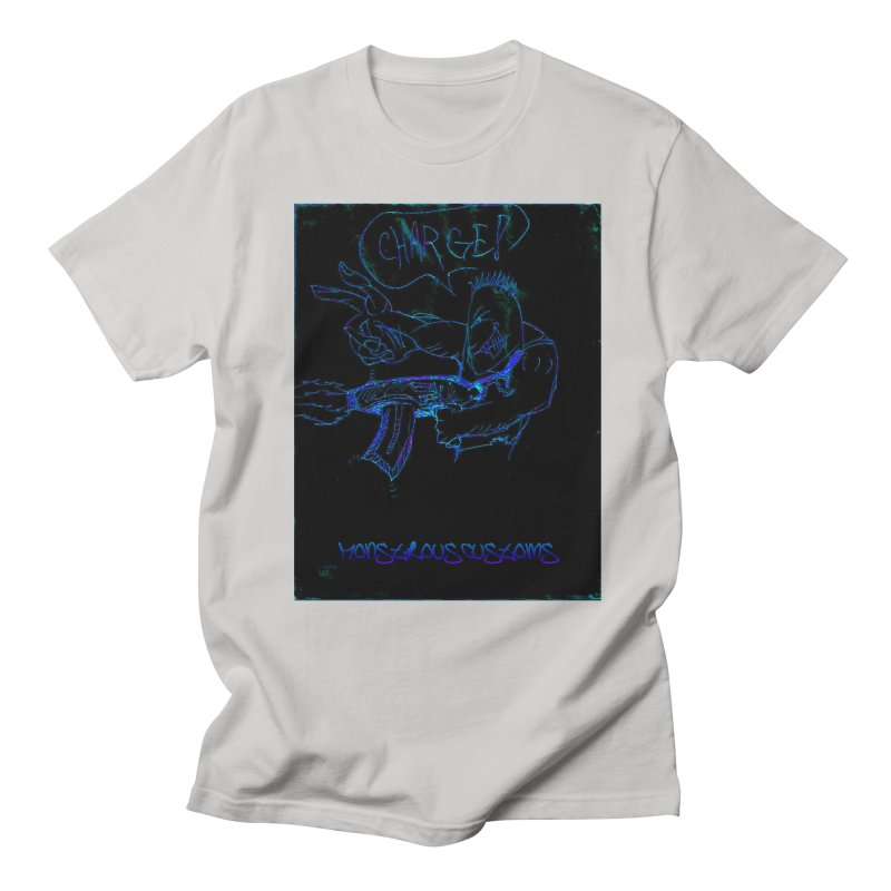 Alien Foot Soldier2 Men's Regular T-Shirt by Monstrous Customs