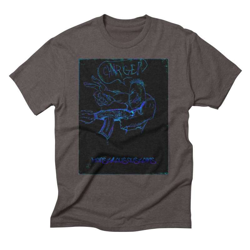 Alien Foot Soldier2 Men's Triblend T-Shirt by Monstrous Customs