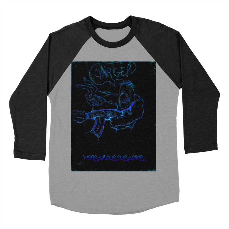Alien Foot Soldier2 Women's Baseball Triblend T-Shirt by Monstrous Customs