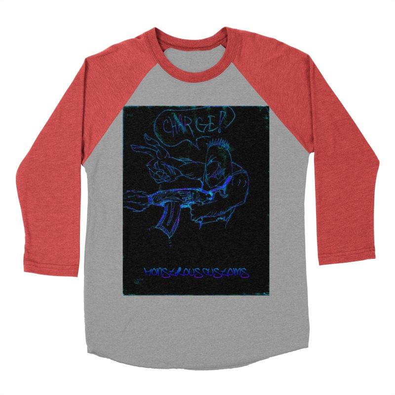 Alien Foot Soldier2 Men's Baseball Triblend T-Shirt by Monstrous Customs