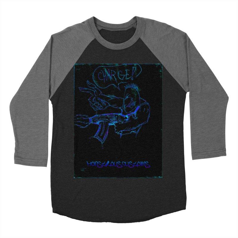 Alien Foot Soldier2 Men's Baseball Triblend Longsleeve T-Shirt by Monstrous Customs