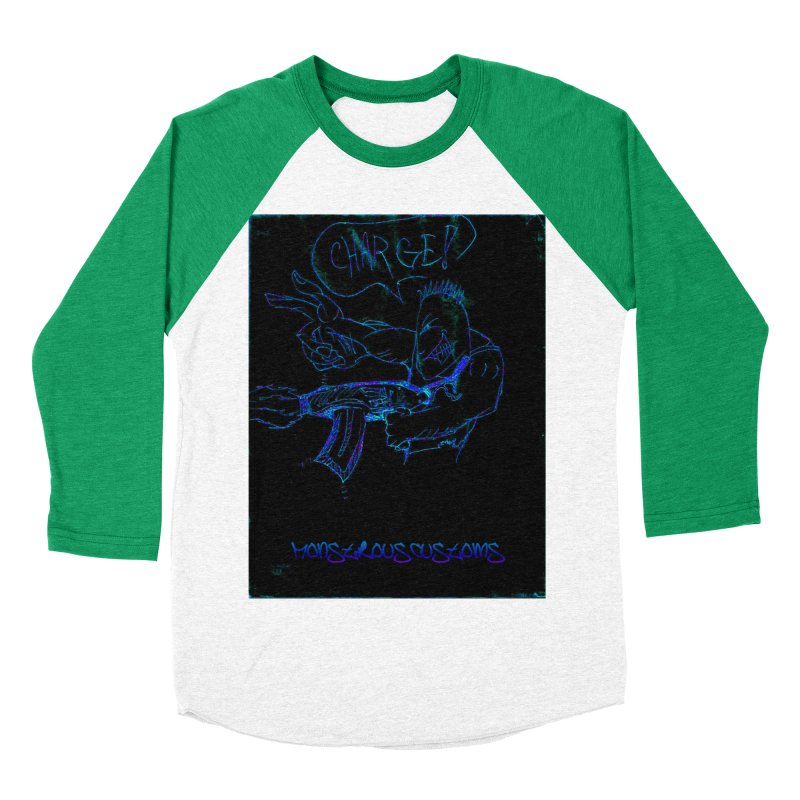 Alien Foot Soldier2 Men's Baseball Triblend Longsleeve T-Shirt by Monstrous Customs