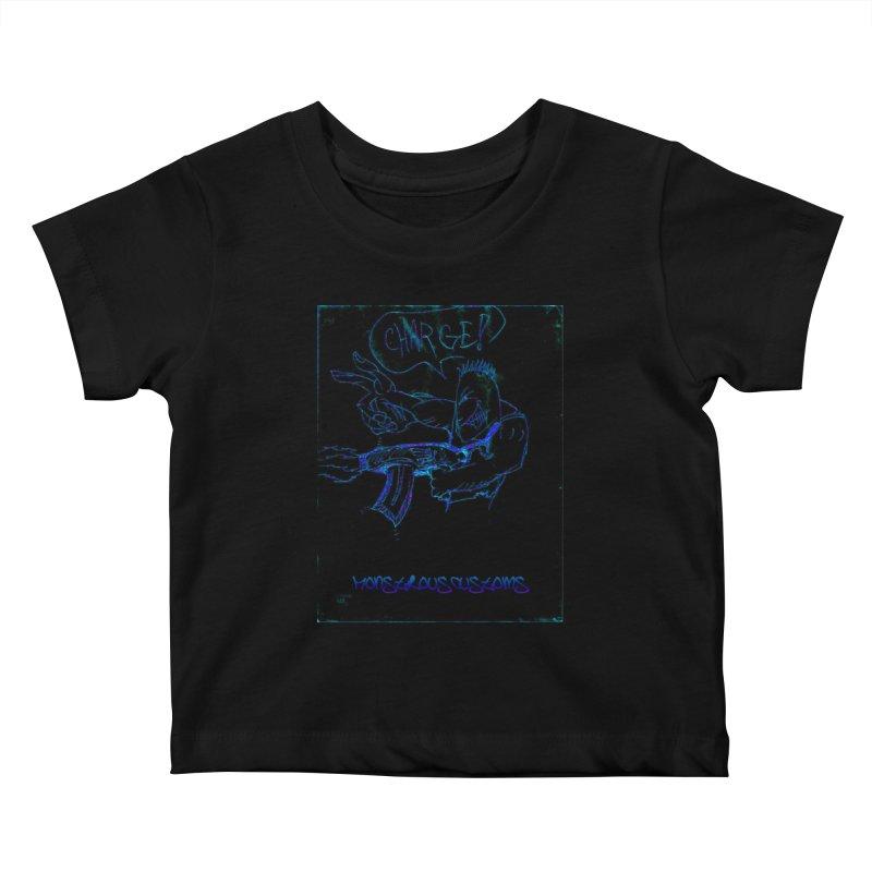 Alien Foot Soldier2 Kids Baby T-Shirt by Monstrous Customs