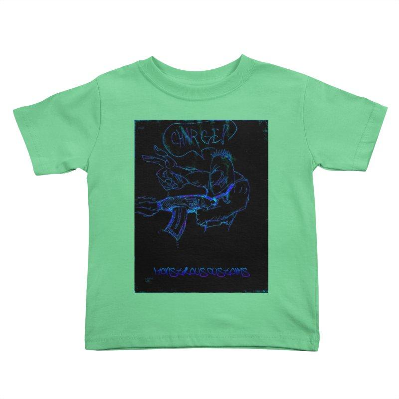 Alien Foot Soldier2 Kids Toddler T-Shirt by Monstrous Customs