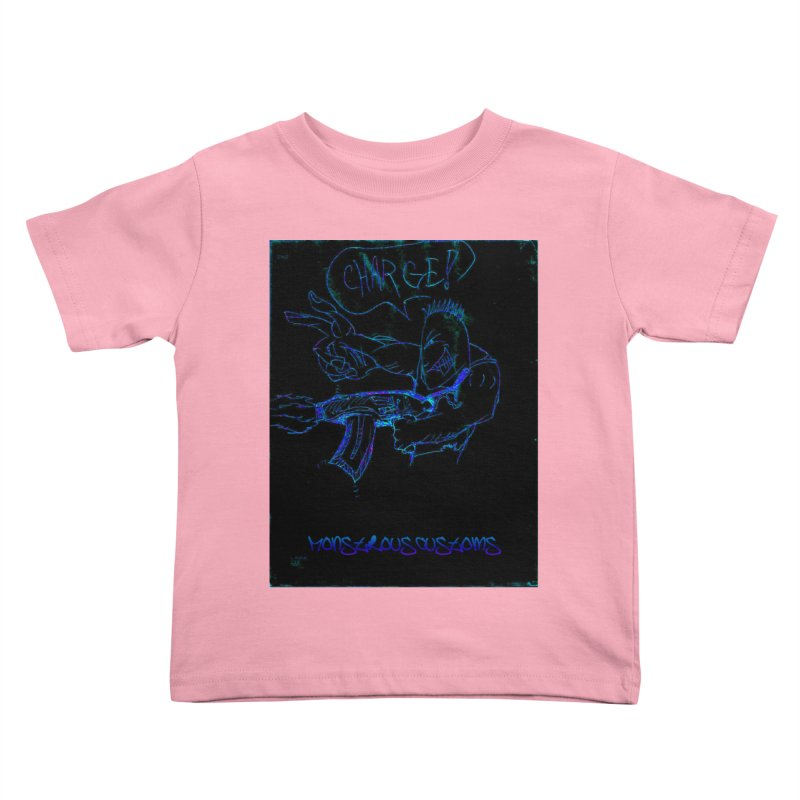 Alien Foot Soldier2 Kids Toddler T-Shirt by Monstrous Customs