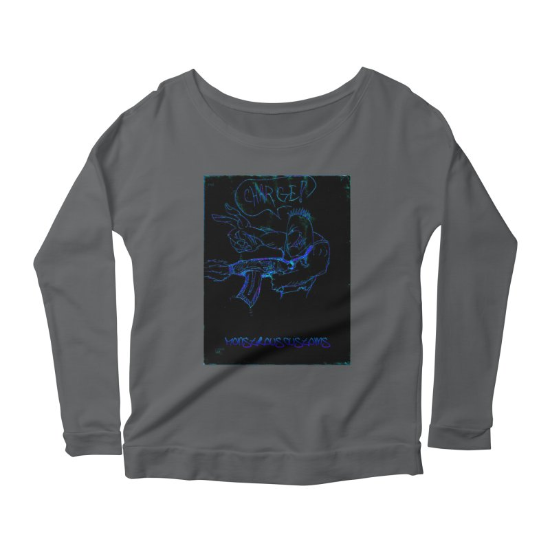 Alien Foot Soldier2 Women's Longsleeve Scoopneck  by Monstrous Customs
