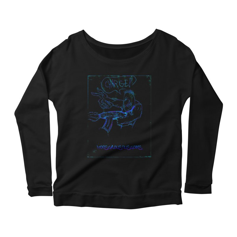 Alien Foot Soldier2 Women's Scoop Neck Longsleeve T-Shirt by Monstrous Customs
